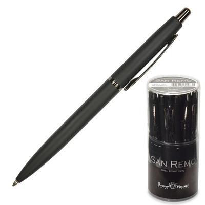 Ручка шариковая автоматическая Bruno Visconti San Remo синяя (черный корпус, толщина линии 1 мм) (артикул производителя 20-0249/01)