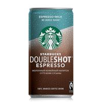 Молочный кофейный напиток Starbucks Doubleshot Espresso без сахара 2.6% 200 мл