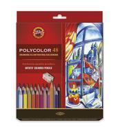 Карандаши цветные Koh-I-Noor Polycolor художественные 48 цветов шестигранные с точилкой
