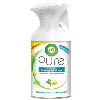 Освежитель воздуха Air Wick Pure 5 эфирных масел Цветущий лимон 250 мл (сухое распыление)
