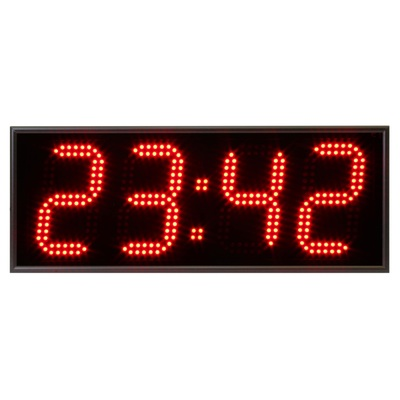 Часы настенные Импульс Электронное табло 415-T-ER2 (52x20x6.5 см)