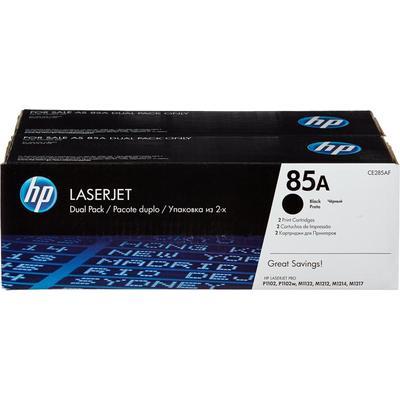 Картридж лазерный HP 85A CE285AF черный оригинальный (двойная упаковка)