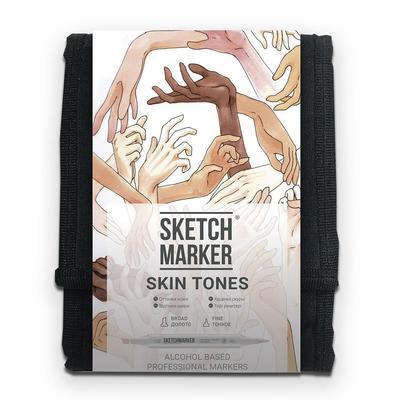 Набор маркеров Sketchmarker Skin tones 12 цветов