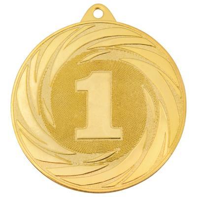 Медаль призовая 1 место 70 мм золотистая