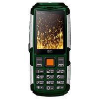 Мобильный телефон BQ-2430 Tank Power зеленый/серебристый