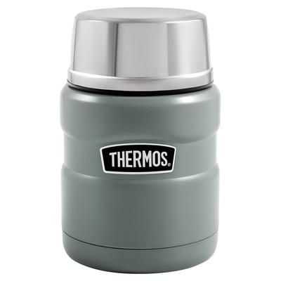Термоконтейнер Thermos 470 мл серый/серебристый (с ложкой)
