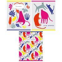 Тетрадь общая Academy Style Коты А5 60 листов в клетку на спирали (обложка в ассортименте)