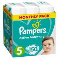 Подгузники Pampers Active Baby-Dry Junior 11-16 кг (150 штук в упаковке)