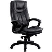 Кресло для руководителя Easy Chair CS-608Е черное (натуральная кожа с компаньоном, пластик)