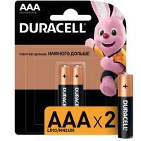 Батарейки Duracell мизинчиковые ААA LR03 (2 штуки в упаковке)