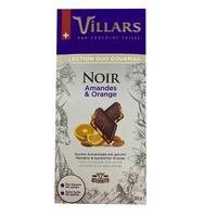 Шоколад Villars темный с цельным миндалем и цукатами из апельсиновых корочек 180 г