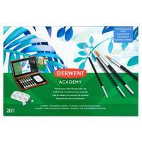 Набор с акварельными красками Derwent Academy 12 цветов  (20 предметов)