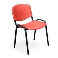 Стул офисный Easy Chair Изо красный (пластик, металл черный)