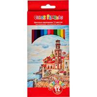 Карандаши цветные 12 цветов шестигранные (пластиковый корпус)