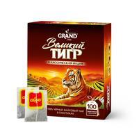 Чай Великий Тигр Отборный черный 100 пакетиков