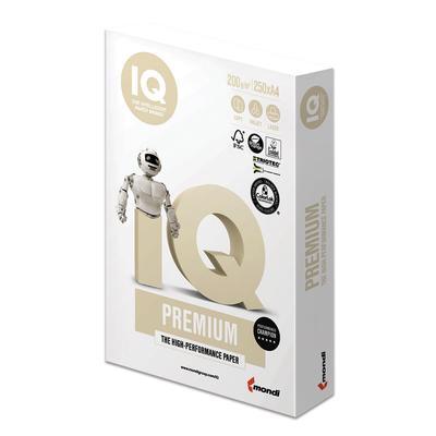 Бумага IQ PREMIUM А4 200 г/м2 250 листов для струйной и лазерной печати А+ Австрия 170% (CIE)