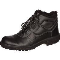 Ботинки утепленные Профи натуральная кожа черные с металлическим подноском размер 40