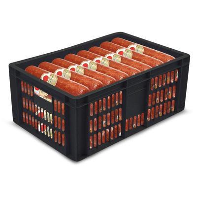 Ящик (лоток) колбасный из ПНД 600х400х250 мм черный