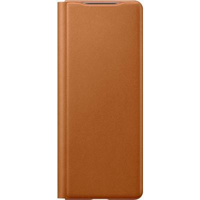 Чехол-книжка для Samsung Leather Flip Cover Z Fold2 коричневый EF-FF916LAEGRU