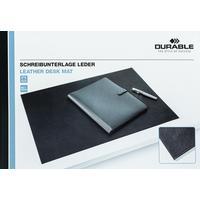 Коврик на стол Durable из натуральной кожи черный 650x450 мм