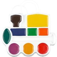 Акварельные краски Луч Кроха Паровозик медовые 9 цветов