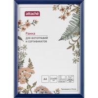 Рамка Attache A4 21x30 см пластиковый багет 14 мм синяя