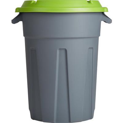 Бак для отходов 80 л пластиковый серый
