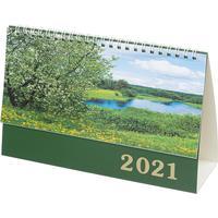 Календарь-домик настольный на 2021 год Пейзажи России (210x140 мм)