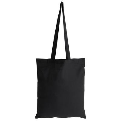 Сумка для покупок хлопок черная (37x1x41 см)