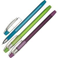 Ручка шариковая Attache Selection Pearl touch Glide синяя (толщина линии 0.3 мм)
